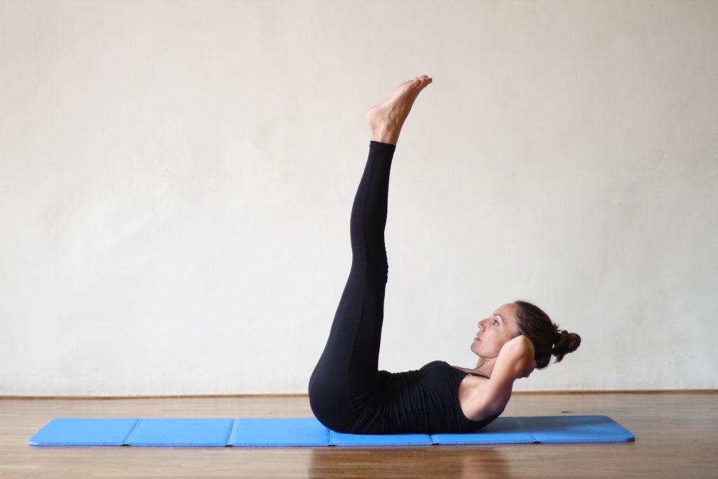 double straight leg stretch